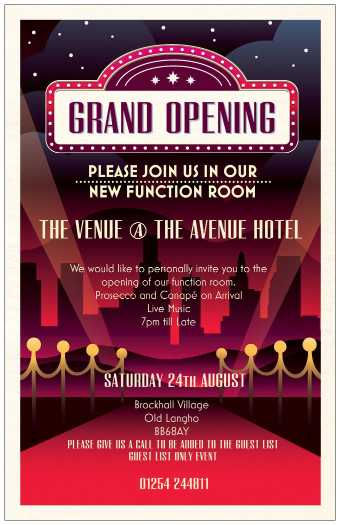 Grand Opening of our Function room this Saturday!