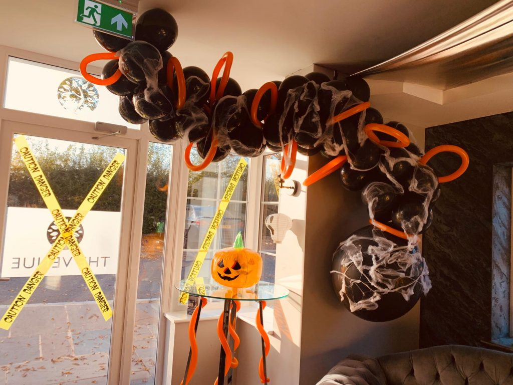 , Check out our Halloween decorations for tonight!